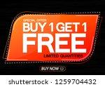 buy 1 get 1 free  sale banner... | Shutterstock .eps vector #1259704432