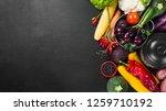 frame of organic food. fresh...