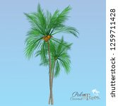 vector of palm tree icons on... | Shutterstock .eps vector #1259711428