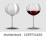 Red Wine Glass On Transparent...