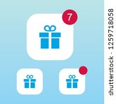 gift or present icon with...