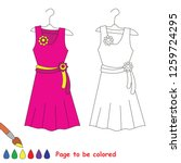 pink dress on hanger to be... | Shutterstock .eps vector #1259724295