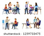 sets of scenes at office.... | Shutterstock .eps vector #1259733475