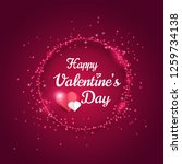 happy valentines day greeting... | Shutterstock .eps vector #1259734138