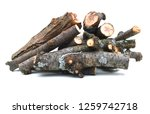 pile of wood  tree branch or log | Shutterstock . vector #1259742718