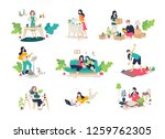 illustrations of girls and boys ... | Shutterstock .eps vector #1259762305