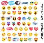 emoji emoticons symbols icons... | Shutterstock .eps vector #1259762362