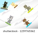 cats are having fun... | Shutterstock .eps vector #1259765362