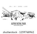 alpine skiing track  sketch for ... | Shutterstock .eps vector #1259768962