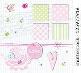scrapbook design elements ... | Shutterstock .eps vector #125977916