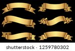 set of gold ribbons.golden... | Shutterstock .eps vector #1259780302