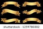 set of gold ribbons.golden...   Shutterstock .eps vector #1259780302
