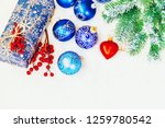 christmas background. happy new ... | Shutterstock . vector #1259780542
