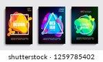 set of liquid gradient color... | Shutterstock .eps vector #1259785402