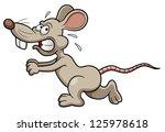 Illustration Of Cartoon Rat...