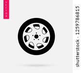 car wheel icon  logo on white... | Shutterstock .eps vector #1259786815