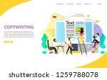 copywriting landing page... | Shutterstock .eps vector #1259788078