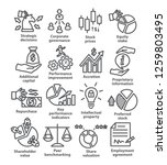business management line icons. ...   Shutterstock .eps vector #1259803495