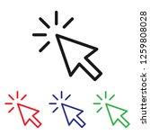 cursor click icon vector   Shutterstock .eps vector #1259808028