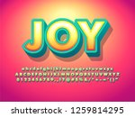 soft 3d typographic digital... | Shutterstock .eps vector #1259814295