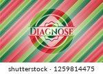 diagnose christmas emblem... | Shutterstock .eps vector #1259814475