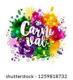illustration of carnival mardi... | Shutterstock .eps vector #1259818732