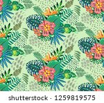 beautiful seamless pattern with ... | Shutterstock .eps vector #1259819575