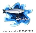 commercial fish sebas  seafood... | Shutterstock .eps vector #1259832922