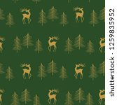 seamless christmas pattern with ... | Shutterstock .eps vector #1259835952