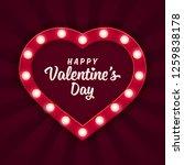 heart shaped light sign for... | Shutterstock .eps vector #1259838178