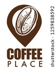 coffee place isolated icon ripe ... | Shutterstock .eps vector #1259838592