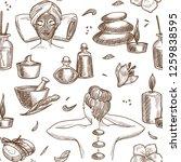 spa salon services sketch... | Shutterstock .eps vector #1259838595