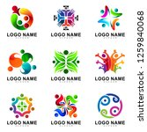 people health and care logo set ... | Shutterstock .eps vector #1259840068