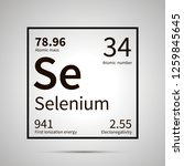 selenium chemical element with... | Shutterstock .eps vector #1259845645
