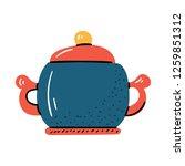 vector illustration with... | Shutterstock .eps vector #1259851312
