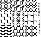a set of 9 seamless geometric... | Shutterstock .eps vector #1259855518