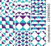 a set of 9 seamless geometric... | Shutterstock .eps vector #1259855602