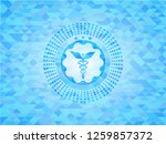 caduceus medical icon inside... | Shutterstock .eps vector #1259857372