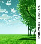 spring scenery | Shutterstock . vector #12598576