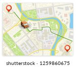 isometric city map navigation ... | Shutterstock .eps vector #1259860675