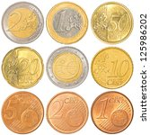 Euro Coins Collection Set...