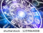 zodiac signs inside of...   Shutterstock . vector #1259864008