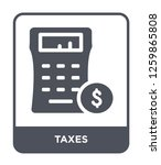 taxes icon vector on white... | Shutterstock .eps vector #1259865808