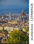 panorama of florence   tuscany  ... | Shutterstock . vector #1259889628