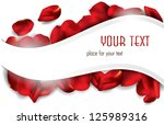 elegant holiday card with rose... | Shutterstock .eps vector #125989316