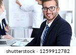 business people at meeting in... | Shutterstock . vector #1259912782
