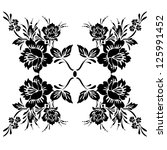rose ornament pattern on white... | Shutterstock . vector #125991452