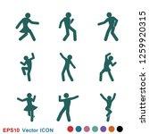 dancing vector icon.... | Shutterstock .eps vector #1259920315