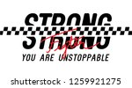 strong fighter you are... | Shutterstock .eps vector #1259921275