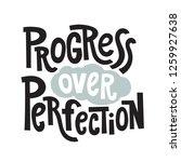 progress over perfection  ... | Shutterstock .eps vector #1259927638